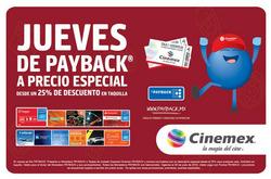 Ofertas de Cinemex  en el folleto de Cuauhtémoc (Ciudad de México)