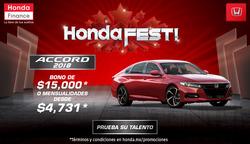 Ofertas de Honda  en el folleto de Ocotlán (Jalisco)