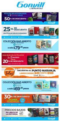 Ofertas de Librerías y Papelerías en el catálogo de Gonvill en Zapopan ( 2 días publicado )