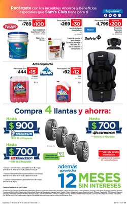 Ofertas de Anticongelante  en el folleto de Sam's Club en Tlaquepaque