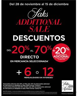 Catálogo Saks Fifth Avenue ( Caducado )