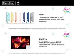 Ofertas de Electrónica y Tecnología en el catálogo de MacStore ( Publicado ayer)