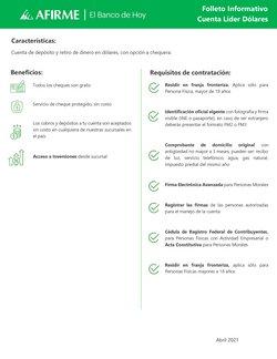 Ofertas de Bancos y Servicios en el catálogo de Afirme ( Más de un mes)