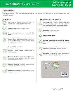 Ofertas de Bancos y Servicios en el catálogo de Afirme ( 6 días más)