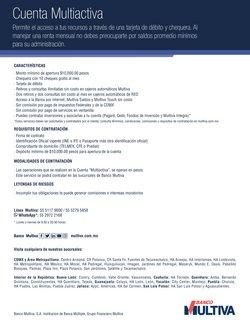 Ofertas de Bancos y Servicios en el catálogo de Multiva en Aguascalientes ( Más de un mes )