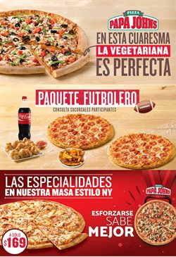 Ofertas de Papa Johns pizza  en el folleto de Monterrey