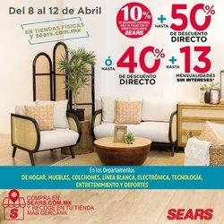 Ofertas de Tiendas Departamentales en el catálogo de Sears en Los Mochis ( Vence mañana )