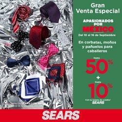Ofertas de Tiendas Departamentales en el catálogo de Sears ( Vence hoy)