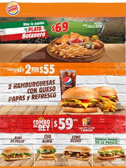 Ofertas de Burger King  en el folleto de Zapopan
