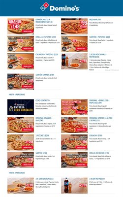 Catálogo Domino's Pizza ( 11 días más )