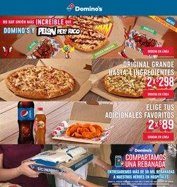 Ofertas de Restaurantes en el catálogo de Domino's Pizza en Miguel Hidalgo ( 20 días más )
