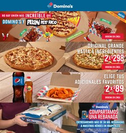 Catálogo Domino's Pizza ( 20 días más )