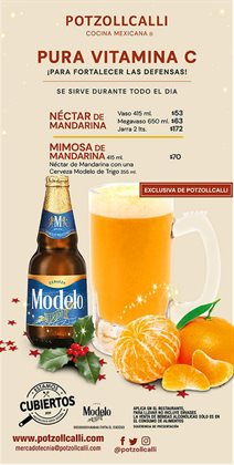 Ofertas de Restaurantes en el catálogo de Potzollcalli en Gustavo A Madero ( Publicado ayer )