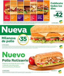 Ofertas de Subway  en el folleto de Puebla