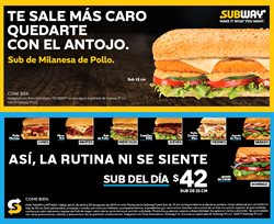 Ofertas de Subway  en el folleto de Tlalpan (Distrito Federal)