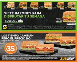 Ofertas de Restaurantes en el catálogo de Subway en Ecatepec de Morelos ( 3 días publicado )