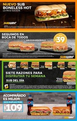 Ofertas de Restaurantes en el catálogo de Subway ( 5 días más)