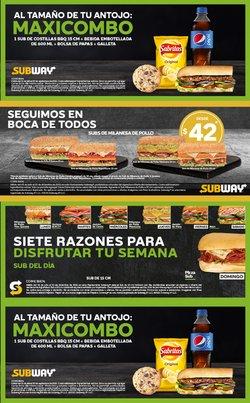 Ofertas de Restaurantes en el catálogo de Subway ( 3 días más)