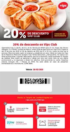 Ofertas de Restaurantes en el catálogo de Vips en Zapopan ( Más de un mes )