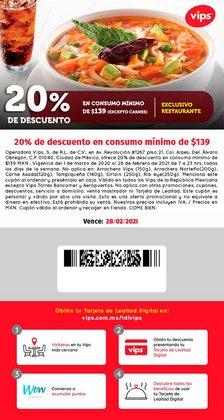 Ofertas de Restaurantes en el catálogo de Vips en Guadalupe (Nuevo León) ( 2 días publicado )
