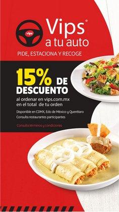 Ofertas de Restaurantes en el catálogo de Vips en Miguel Hidalgo ( 20 días más )