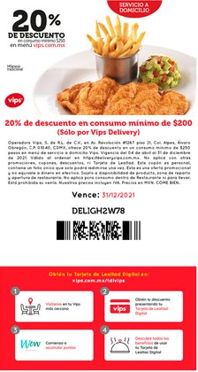 Ofertas de Restaurantes en el catálogo de Vips ( 14 días más)
