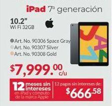 Oferta de IPad Apple por $7999