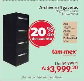 Oferta de Archiveros Tam-Mex por $3999.2