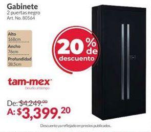 Oferta de Armario con puertas abatibles por $3399.2