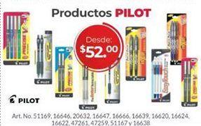 Oferta de Bolígrafos Pilot por $52