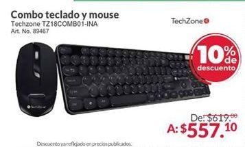 Oferta de Combo teclado y mouse TechZone por $557.1