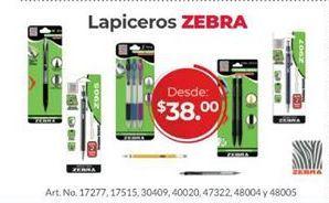 Oferta de Bolígrafos Zebra por $38