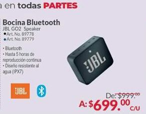 Oferta de Bocinas bluetooth JBL por $699