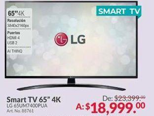 Oferta de Smart tv led LG por $18999