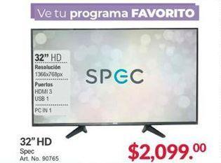 Oferta de Smart tv led 32'' por $2099
