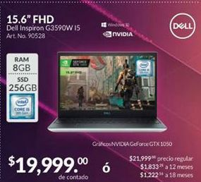 Oferta de Laptop Dell por $19999