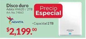 Oferta de Disco duro externo 2TB Adata por $2199