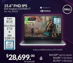 Oferta de Laptop Dell por $28699