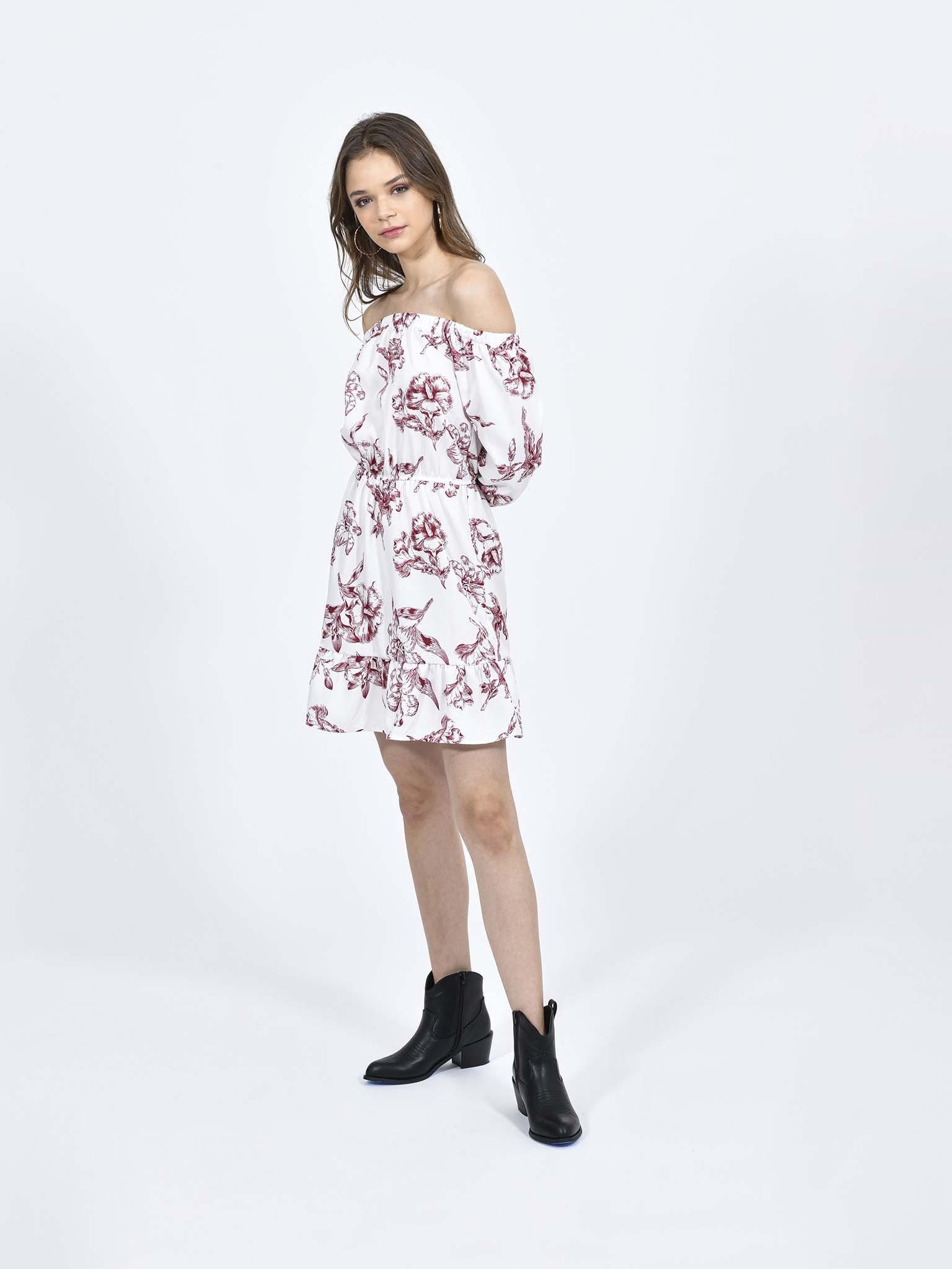 Oferta de Vestido Hombros Descubiertos por $259