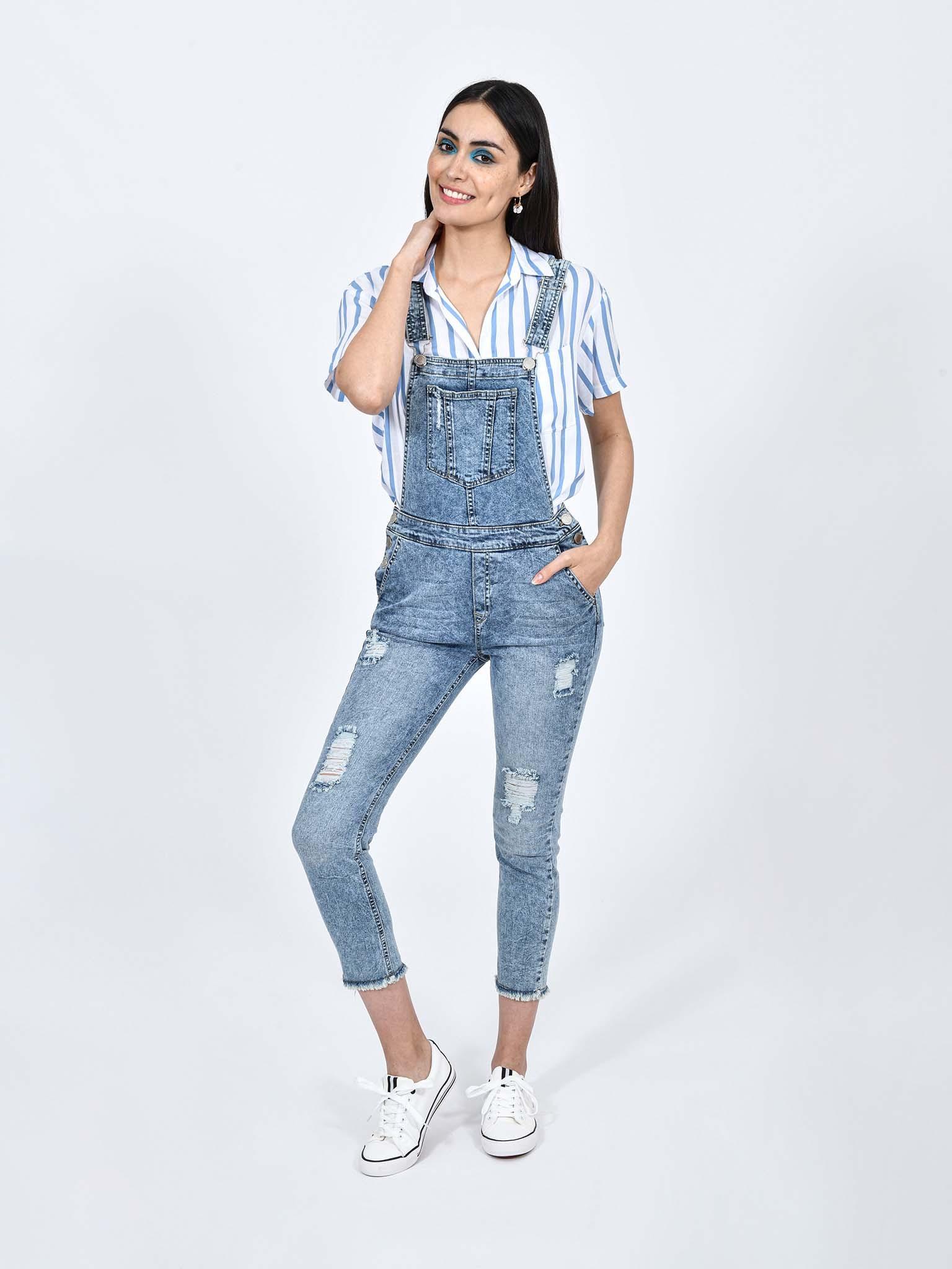 Oferta de Jeans Overol Acid Wash por $323.1