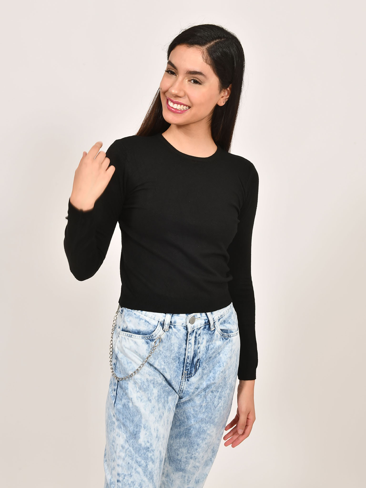 Oferta de Suéter Cropped por $159