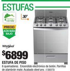Oferta de Estufa de gas Whirlpool por $6899