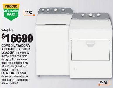 Oferta de Lavadoras Whirlpool por $16699