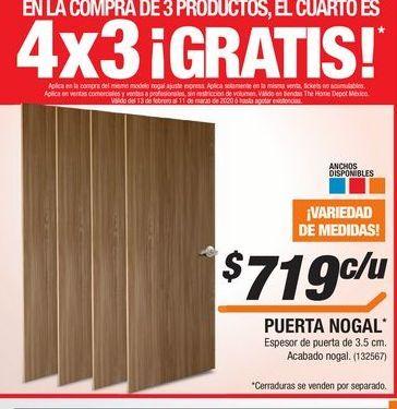 Oferta de Puerta de madera por $719