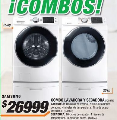 Oferta de Lavadoras Samsung por $26999