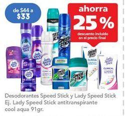 Oferta de Desodorante en barra Speed Stick por $33