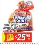 Oferta de Pan de hot dogs Bimbo por $25.9