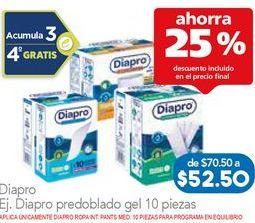 Oferta de Pañales Diapro por $52.88