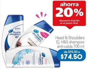 Oferta de Shampoo Head & Shoulders por $74.8