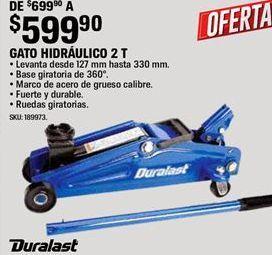 Oferta de Gato hidráulico Duralast por $599.9